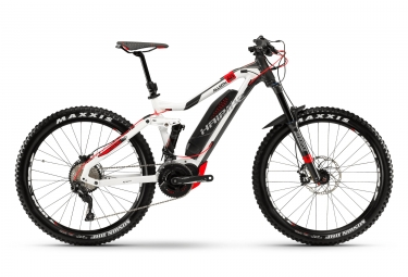 Vtt electrique haibike xduro allmtn 6 0 27 5 shimano deore 10v 2018 blanc rouge xl 1