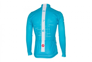 Maillot Manches Longues Castelli Thermal Sky Bleu