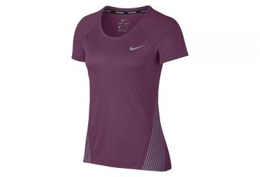 maillot femme nike dry miler flash violet l