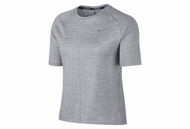 Maillot manches courtes femme nike dry element gris xs