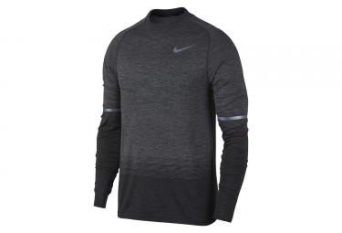 maillot nike dri fit knit gris noir homme s