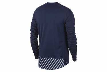 Maillot Manches Longues Nike Dry Miler Flash Bleu Homme