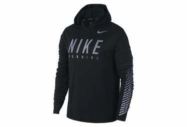 sweat a capuche nike dry miler flash noir homme xl