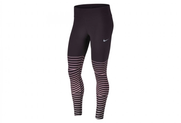 collant long nike power epic lux flash bordeau femme m