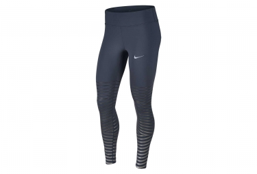 collant long nike power epic lux flash bleu gris femme xs