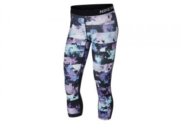 5b665d89bb1eaf Nike Pro Damen Capris Flower Jam Schwarz Weiß