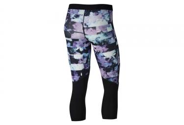 Collant 3/4 Nike Pro Capris Flower Jam Noir Blanc Femme