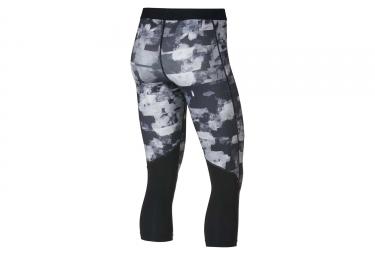 Collant 3/4 Nike Pro Capris Flower Jam Gris Noir Femme