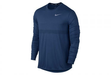 maillot manches longues nike zonal cooling relay bleu homme l