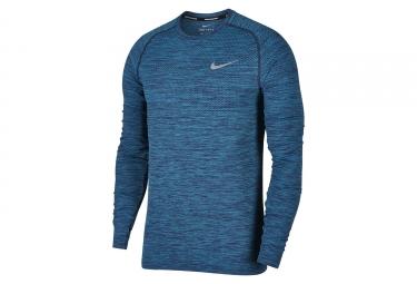 maillot manches longues nike dri fit knit bleu homme l