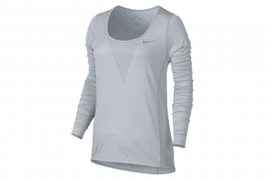 Maillot Manches Longues Femme Nike Zonal Cooling Relay Gris