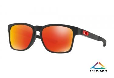lunettes oakley catalyst noir prizm ruby ref oo9272 2555