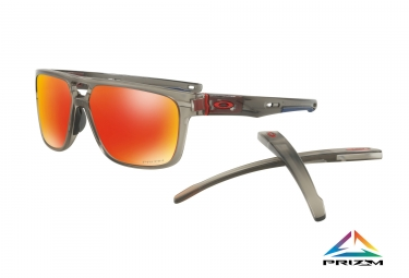 lunettes oakley crossrange patch gris transparent prizm ruby ref oo9382 0560