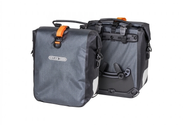 ORTLIEB Pair of Trunk Bag Gravel-Pack Grey