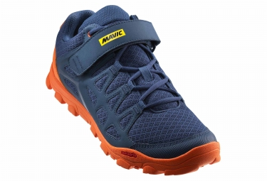 chaussures vtt mavic crossride bleu orange 47 1 3