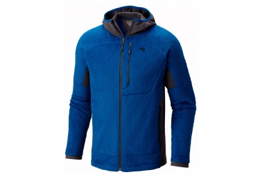 polaire mountain hardwear monkey man grid ii bleu m