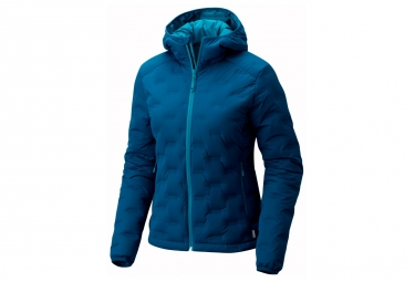 Veste a capuche femme mountain hardwear stretchdown ds bleu xl