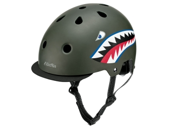 Electra Tiger Shark Helmet Green