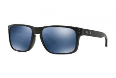 Lunettes Oakley Holbrook Noir - Bleu Iridium Polarisé Réf OO9102-52