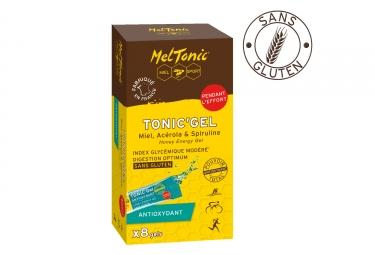 meltonic 8 gels energetiques antioxydant miel acerola spiruline