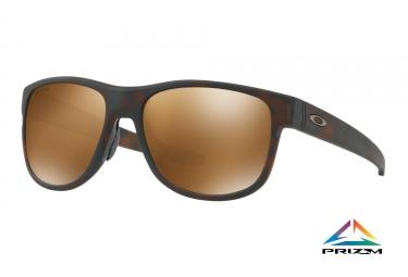 lunettes oakley crossrange r marron prizm tungsten polarise ref oo9359 0757