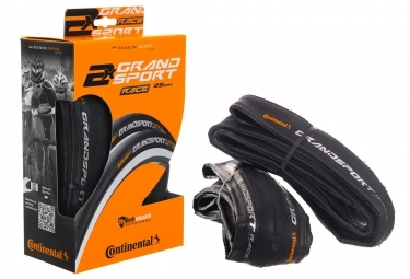 pack de 2 pneus continental grand sport race 700x25 mm tubetype souple puregrip comp