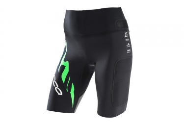 short neoprene femme orca swimrun core bottom noir vert l