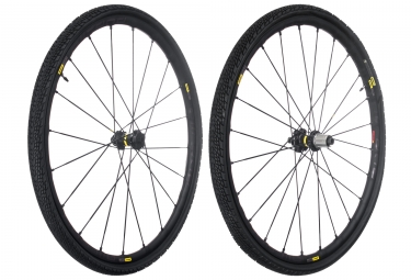 mavic 2018 paire de roues allroad pro ust disc m 40 shimano sram center lock 12 x 100 12 x 142 mm