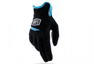 Gants Longs Femme 100% Ridecamp Noir Bleu