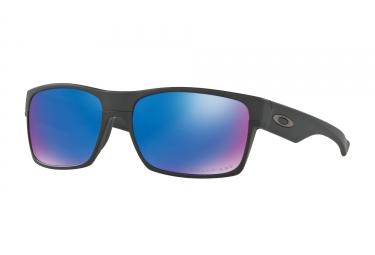 lunettes oakley twoface noir sapphire iridium polarise ref oo9189 3560