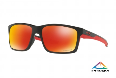 lunettes oakley mainlink noir prizm ruby polarise ref oo9264 3557