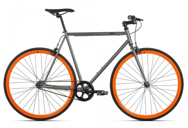 fixie 6ku barcelona gris orange 58 cm 185 191 cm