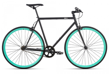 Verde da 6KU Bum Fixie Bike Black Teal