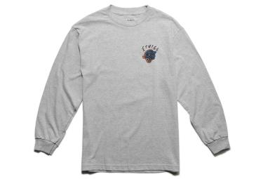 T shirt manches longues etnies retro panther gris m