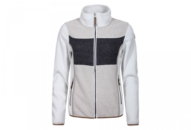Icepeak Taipa Women Fleece Jacket gris blanco