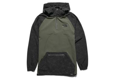 veste coupe vent etnies scout packable vert noir m
