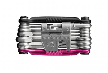 crankbrothers multi outils m19 19 fonctions noir rose