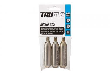 x3 Cartouches de CO2 Truflo Micro