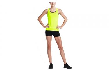 Short de compression Femme Nike Pro Cool 7,5cm Noir Jaune