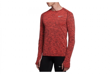 Maillot Manches Longues Nike Dri-Fit Knit Rouge Homme