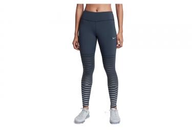 Collant Long Nike Power Epic Lux Flash Bleu Gris Femme