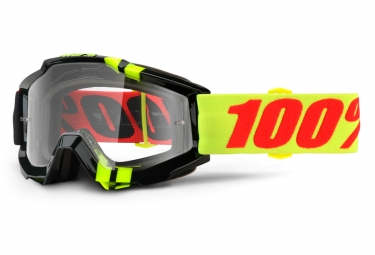masque 100 accuri zerbo noir jaune ecran transparent