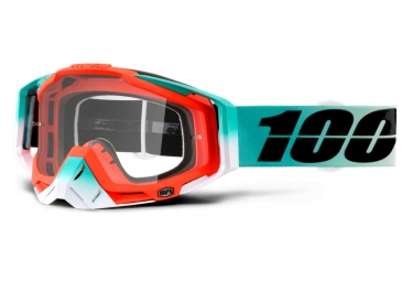 masque 100 racecraft cubica orange turquoise ecran transparent