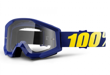 100% Strata Hope Goggle Blue Frame Clear Lens
