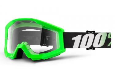 Masque 100% Strata Arkan Vert Fluo Ecran Transparent