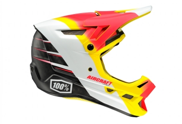 casque integral 100 aircraft r9 fire mips rouge jaune s 55 56 cm