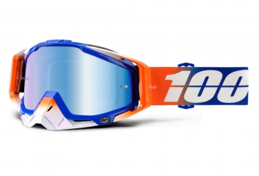masque 100 racecraft roxburry bleu orange ecran iridium bleu