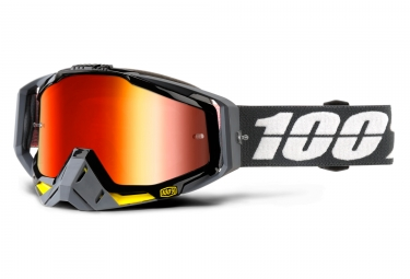 masque 100 racecraft fortis gris ecran iridium orange