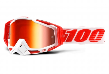 masque 100 racecraft bilal rouge ecran iridium rouge