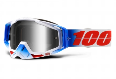 masque 100 racecraft fourth bleu ecran iridium chrome